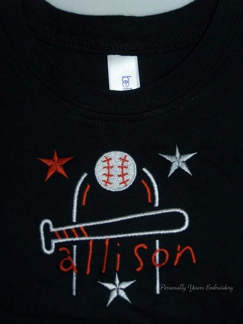 Baseball Monogram T-shirt
